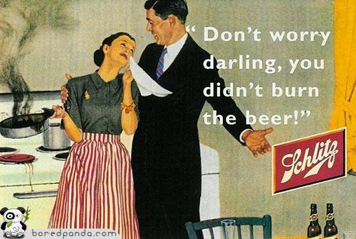 No te preocupes querida, no quemaste la cerveza!