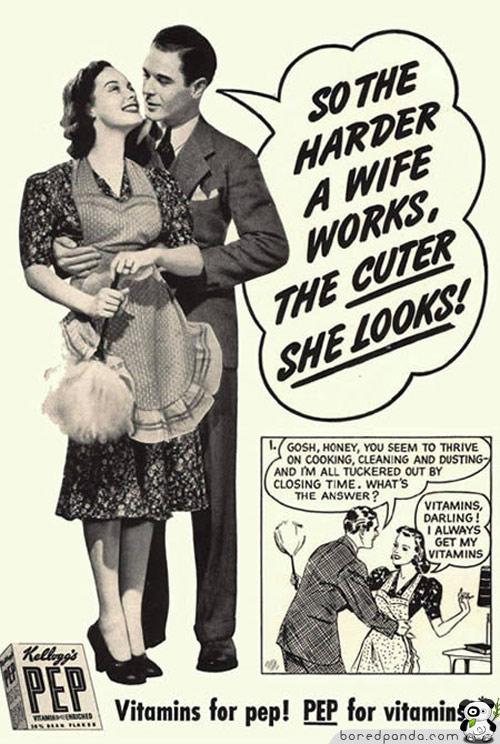 Cuánto más duro trabaja una esposa, más linda se pone!